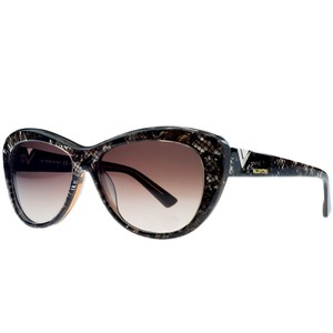 Valentino Valentino Brown Pearl Cateye Sunglasses
