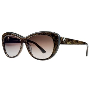 Valentino Valentino Chocolate Pearl Cateye Sunglasses