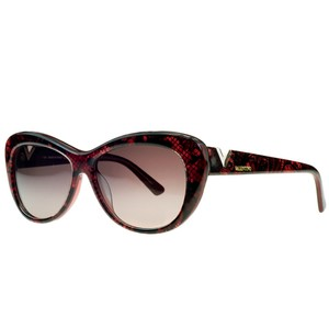 Valentino Valentino Red Pearl Cateye Sunglasses