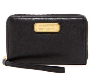 Marc by Marc Jacobs Leather Phone Case Wallet Wristlet in Black