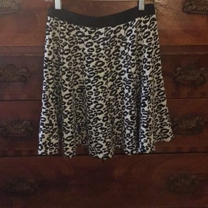Rebecca Taylor Mini Skirt Black and white