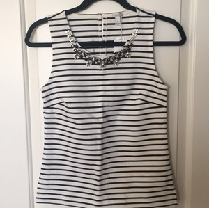J.Crew Top Black/White Stripe
