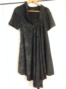 AllSaints short dress Charcoal grey/black on Tradesy