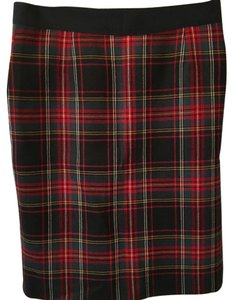 J.Crew Skirt Red plaid (black yellow green and white also)