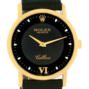 Rolex Rolex Cellini Classic 18K Yellow Gold Black Dial Mechanical Watch 5115