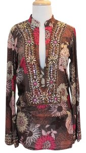 Monique Leshman Tunic Top floral