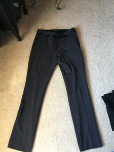 Express Straight Pants Charcoal