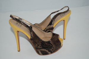 Saks Fifth Avenue BROWN/YELLOW Pumps