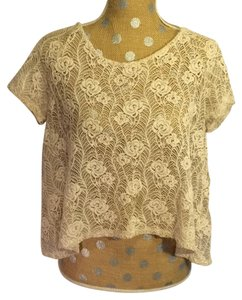 Kimchi Blue Urban Outfitters Ivory Lace Top