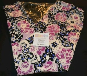 LuLaRoe LuLaRoe TC Leggings Black & Purple Flowers Butterflies HTF NWT Leggings