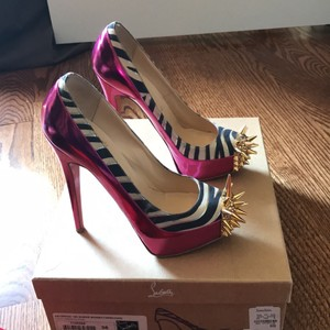 Christian Louboutin Pink and gold Platforms