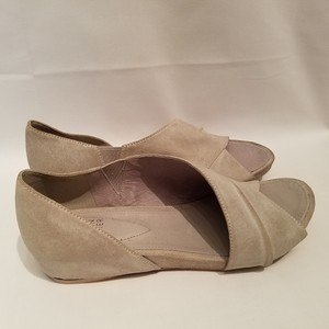 Eileen Fisher Open Toe Code Sandals Pewter Gray Flats