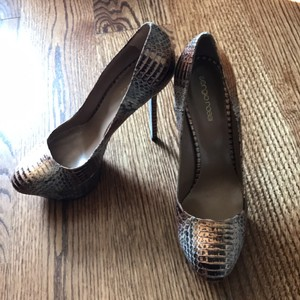 Sergio Rossi Brown metallic Platforms