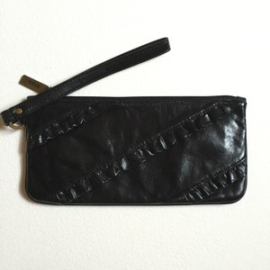Hobo International Leather Wristlet in BLACK