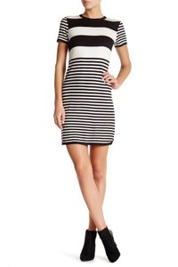 Eliza J short dress Black & Ivory on Tradesy