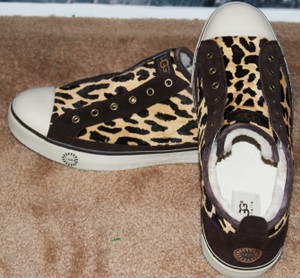 UGG Australia Sheepskin Leather Animal Print Casual Leopard brown yellow white black Athletic