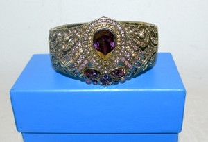 "Heidi Daus Heidi Daus ""It's Good to be Queen"" Amethyst Crystal Cuff Bracelet S/M"