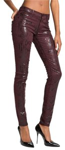 7 For All Mankind Sexy Chic Snake Print Stretchy Skinny Jeans