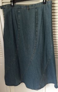 Faded Glory Maxi Skirt Classic Denim Blue