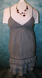 PINK short dress navy blue & white Ruffle Striped Boho Stretchy on Tradesy