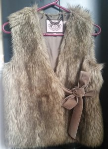 Juicy Couture Faux Fur Velvet Vest