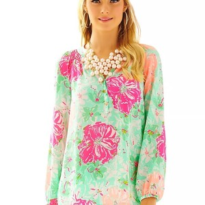 Lilly Pulitzer Top Poolside blue