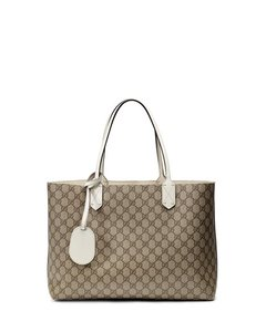 Gucci Reversible Tote in White/Guccissima