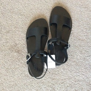 Urban Outfitters Black leather Sandals