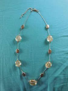 18 inch Goldtone Beaded Necklace