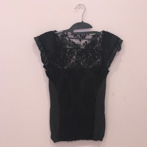 Valentino Top Black/Dark Gray
