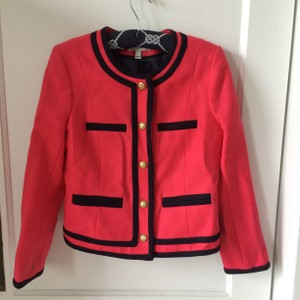 J.Crew Preppy Hot Pink and Navy Blue Jacket