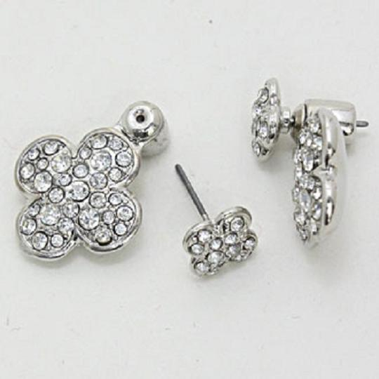 Other Signature Style Double Sided Clover Crystal Earring