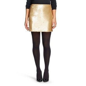 Romeo & Juliet Couture Mini Skirt Gold
