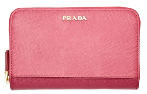 Prada PRADA Wallet Saffiano Leather Stripe Peonia Ibisco 1M1157
