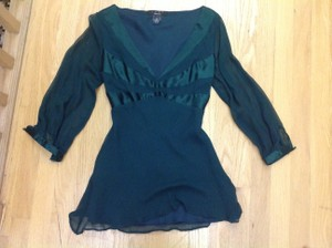 Arden B. B Luxe Silk Bluse Top green