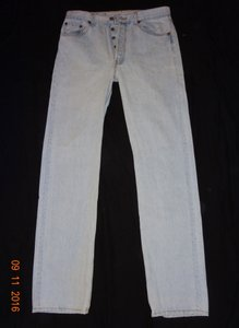 Levi's Vintage Button-fly Straight Leg Jeans-Light Wash