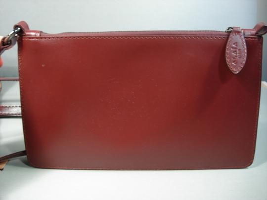 ALAA Attached Envelope New Heart Mirror Gunmetal Studs Tote in Dark Burgundy/Bordeaux Image 5