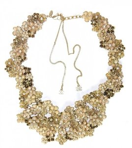 Chanel Chanel 2010 Collector's Beige Camelia Bib Necklace