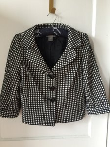 Ann Taylor Mod Black & White Jacket