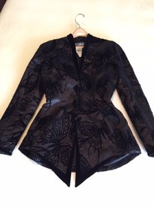 Thierry Mugler Thierry Mugler flocked velvet evening jacket