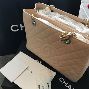 Chanel Tote in Beige/Camel