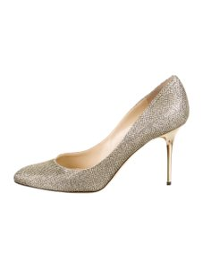Jimmy Choo Gilbert Silver Pumps