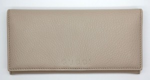 Gucci GUCCI Cellarius Dollar Calf Leather Envelope Clutch Wallet Oatmeal