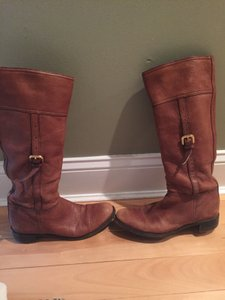 Prada Pebbled Brown Leather Boots