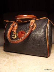 Dooney & Bourke Vintage Vintage Satchel in Black/British tan