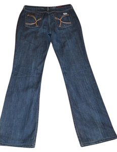 David Kahn Size 10 Boot Cut Jeans-Medium Wash