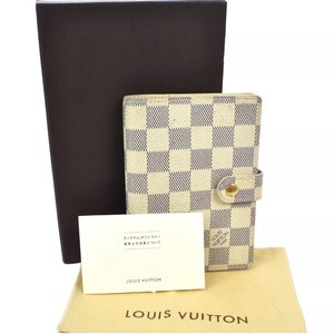 Louis Vuitton LOUIS VUITTON AGENDA PM NOTEBOOK COVER DAMIER AZUR CANVAS