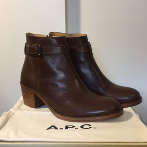A.P.C. New Leather Ankle Apc Brown Boots