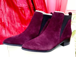 Marc Fisher Ankle Burgundy Suede Boots
