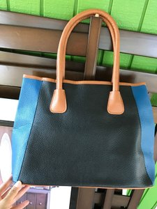 Neiman Marcus Handbag Large Tote in BLUE Brown Tan
